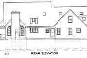 Country Style House Plan - 3 Beds 2.5 Baths 2916 Sq/Ft Plan #75-177 Exterior - Rear Elevation