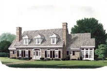 Colonial Exterior - Front Elevation Plan #410-250