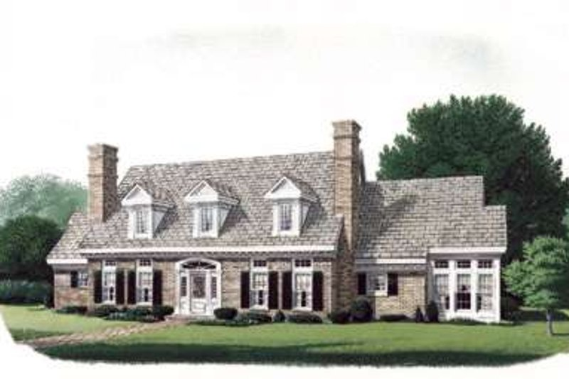 House Design - Colonial Exterior - Front Elevation Plan #410-250