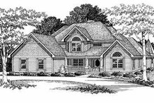 Dream House Plan - European Exterior - Front Elevation Plan #70-496