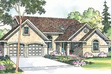 Traditional Exterior - Front Elevation Plan #124-354