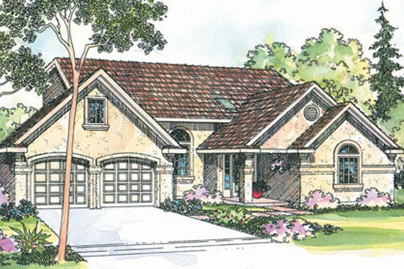 Architectural House Design - Traditional Exterior - Front Elevation Plan #124-354