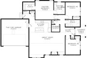 Bungalow Style House Plan - 3 Beds 2 Baths 1468 Sq/Ft Plan #895-39 Floor Plan - Main Floor Plan