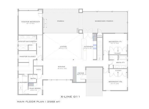 Modern Style House Plan - 4 Beds 3 Baths 2922 Sq/Ft Plan #909-4 Floor Plan - Main Floor Plan