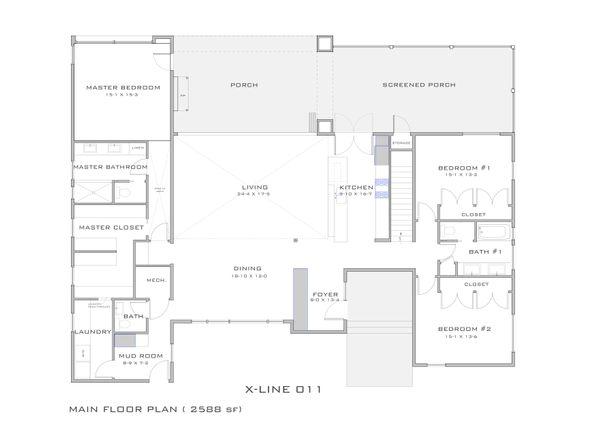 Modern Floor Plan - Main Floor Plan #909-4