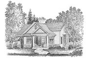 Cottage Style House Plan - 1 Beds 1 Baths 923 Sq/Ft Plan #22-565 Exterior - Front Elevation