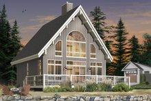 Cottage Exterior - Rear Elevation Plan #23-670