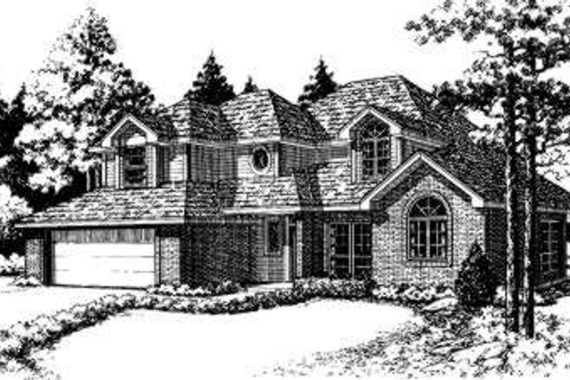 Traditional Style House Plan - 3 Beds 2.5 Baths 1624 Sq/Ft Plan #310-118 Exterior - Front Elevation