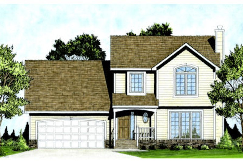 Farmhouse Exterior - Front Elevation Plan #58-187