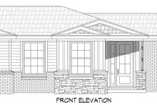 Dream House Plan - Traditional Exterior - Front Elevation Plan #932-306