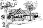 House Plan - 2 Beds 2 Baths 1421 Sq/Ft Plan #320-132 Exterior - Front Elevation