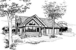 Exterior - Front Elevation Plan #320-132