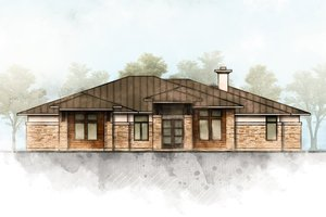 Home Plan - Contemporary Exterior - Front Elevation Plan #80-216
