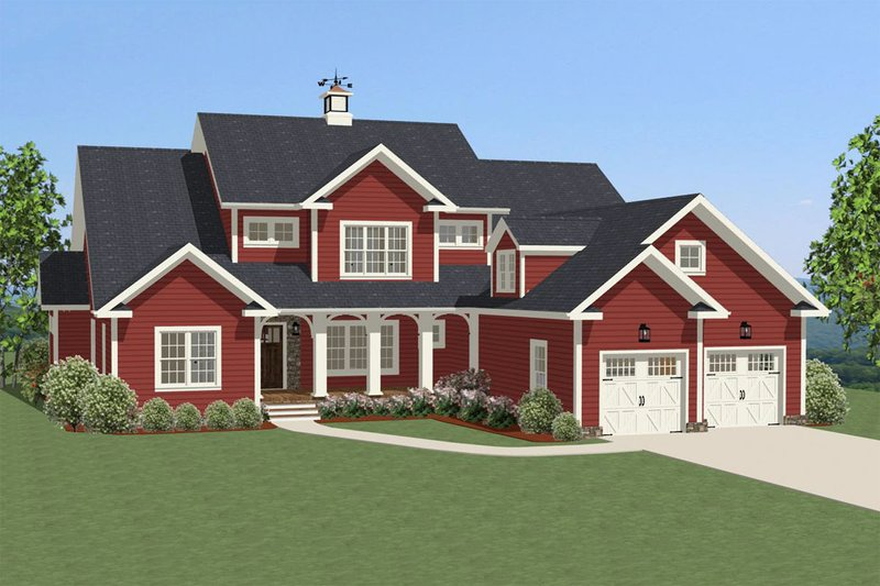 Traditional Exterior - Front Elevation Plan #898-19