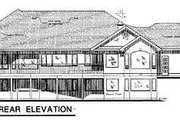 Traditional Style House Plan - 3 Beds 2 Baths 2767 Sq/Ft Plan #18-9124 Exterior - Rear Elevation
