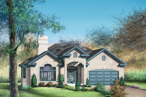 Traditional Exterior - Front Elevation Plan #25-148