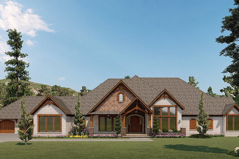 House Plan Design - Craftsman Exterior - Front Elevation Plan #923-189