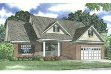 Home Plan - Traditional Exterior - Front Elevation Plan #17-2690