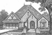 House Plan Design - European Exterior - Front Elevation Plan #310-1255
