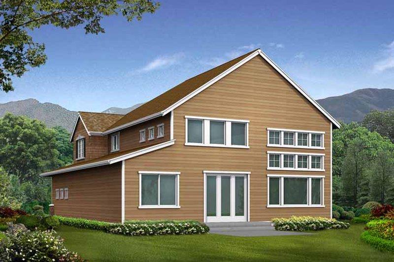 Craftsman Exterior - Rear Elevation Plan #132-299 - Houseplans.com