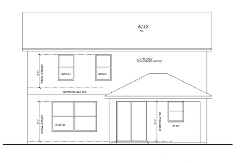 Traditional Exterior - Rear Elevation Plan #1058-21 - Houseplans.com