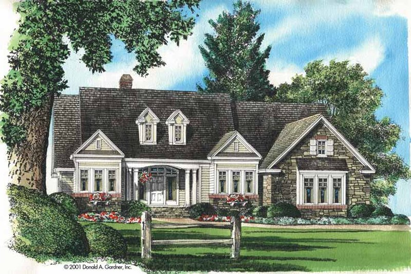 House Plan Design - Ranch Exterior - Front Elevation Plan #929-617