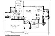 Southern Style House Plan - 3 Beds 3 Baths 2604 Sq/Ft Plan #70-1227 Floor Plan - Main Floor Plan