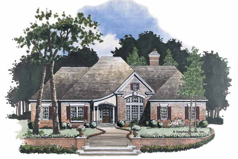 House Plan Design - Country Exterior - Front Elevation Plan #429-57