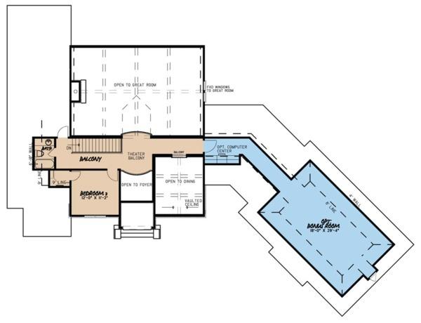 European Floor Plan - Upper Floor Plan #923-66
