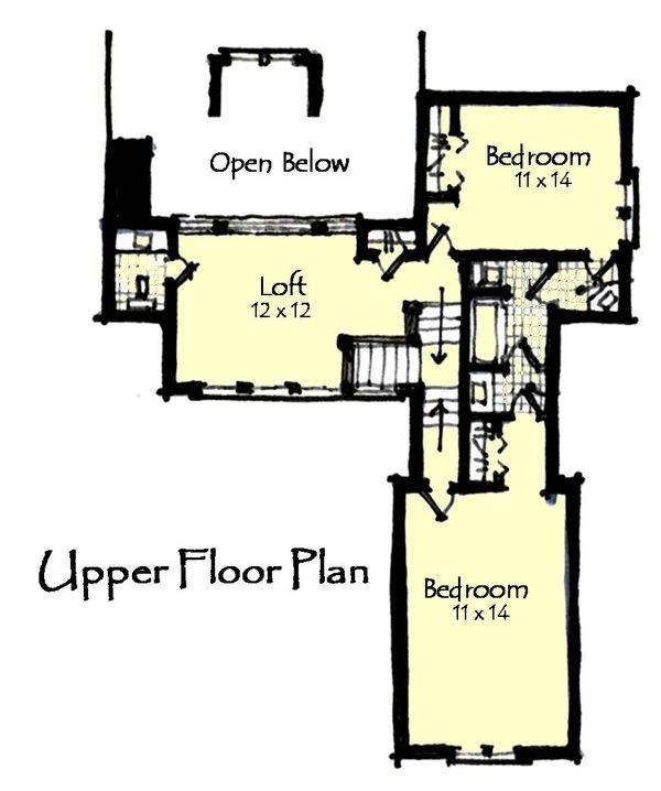 Craftsman Floor Plan - Upper Floor Plan Plan #921-14
