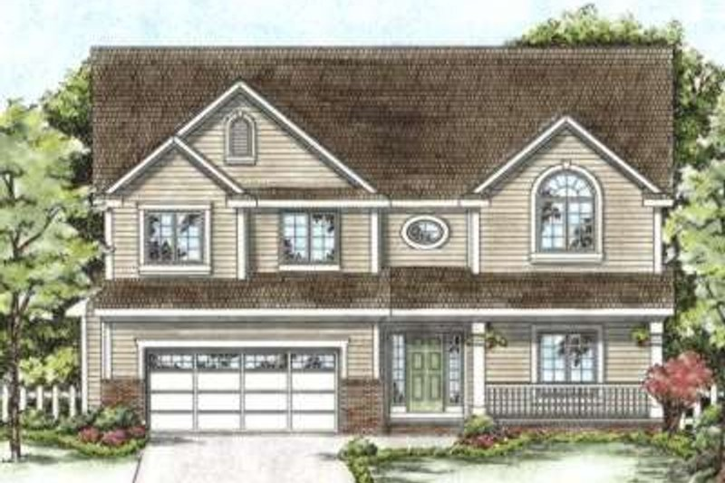 Country Exterior - Front Elevation Plan #20-1665 - Houseplans.com