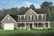 Colonial Style House Plan - 4 Beds 2.5 Baths 2148 Sq/Ft Plan #1010-152
