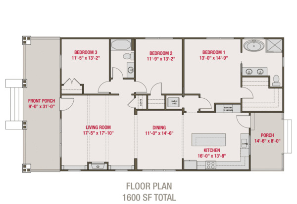Bungalow Floor Plan - Main Floor Plan #461-67