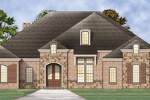European Exterior - Front Elevation Plan #119-418