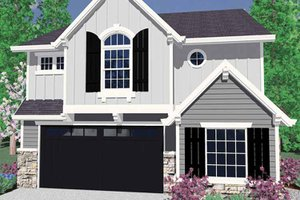 Prairie Exterior - Front Elevation Plan #509-233