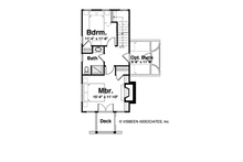 Cabin Floor Plan - Upper Floor Plan Plan #928-246