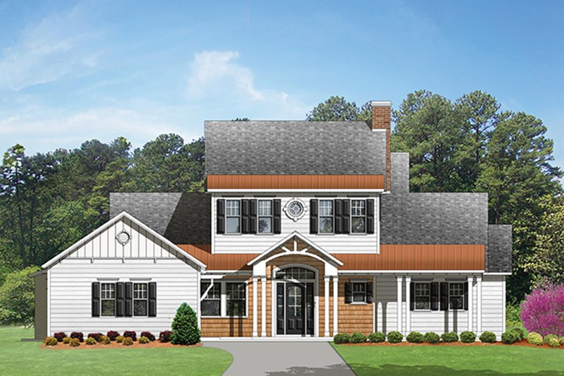 Country Exterior - Front Elevation Plan #1058-80 - Houseplans.com