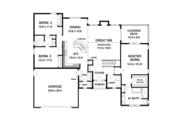 Ranch Style House Plan - 3 Beds 2.5 Baths 1866 Sq/Ft Plan #1010-104 Floor Plan - Main Floor Plan