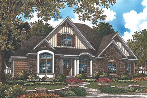 Home Plan - European Exterior - Front Elevation Plan #929-1010
