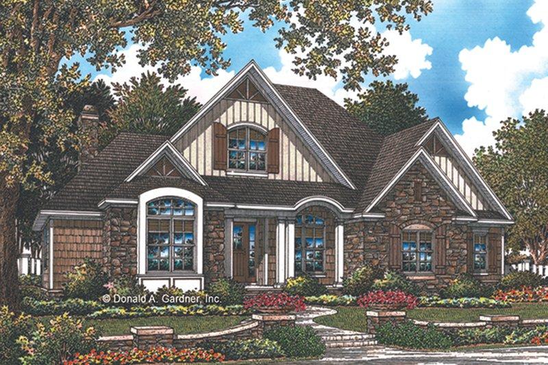 House Plan Design - European Exterior - Front Elevation Plan #929-1010