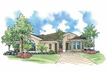 House Design - Mediterranean Exterior - Front Elevation Plan #930-384
