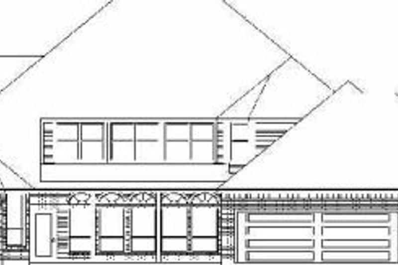 Traditional Exterior - Rear Elevation Plan #84-154 - Houseplans.com