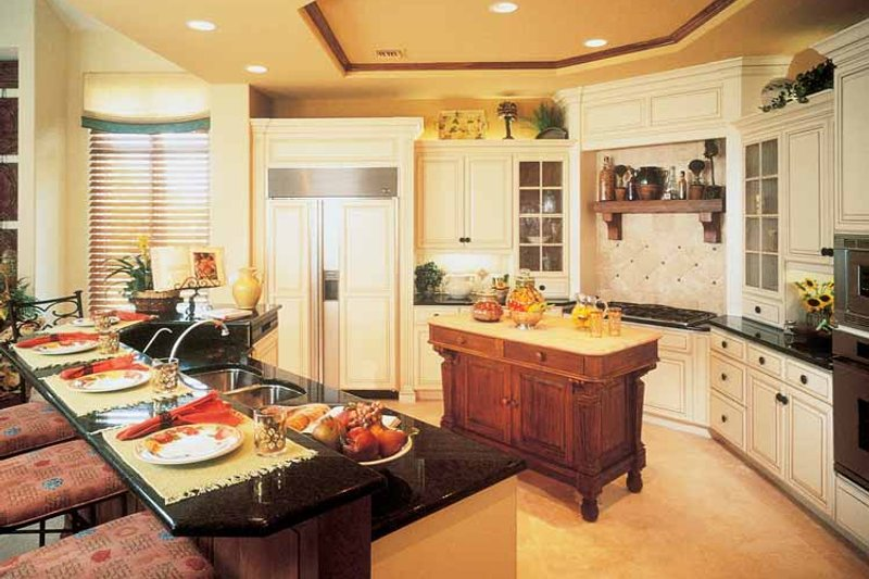 Mediterranean Interior - Kitchen Plan #930-189 - Houseplans.com