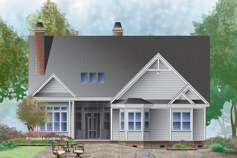 Ranch Exterior - Rear Elevation Plan #929-994 - Houseplans.com