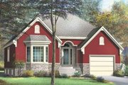 European Style House Plan - 2 Beds 1 Baths 1257 Sq/Ft Plan #25-4140 Exterior - Front Elevation
