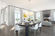 Contemporary Style House Plan - 4 Beds 3 Baths 2808 Sq/Ft Plan #23-2314 Interior - Dining Room