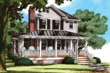 House Design - Traditional Exterior - Front Elevation Plan #991-23