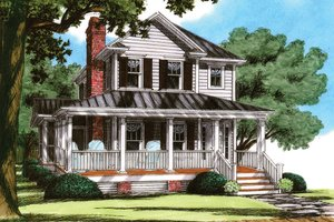 House Plan Design - Traditional Exterior - Front Elevation Plan #991-23