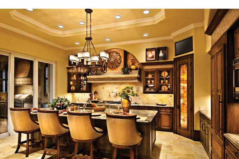 Mediterranean Interior - Kitchen Plan #930-440 - Houseplans.com