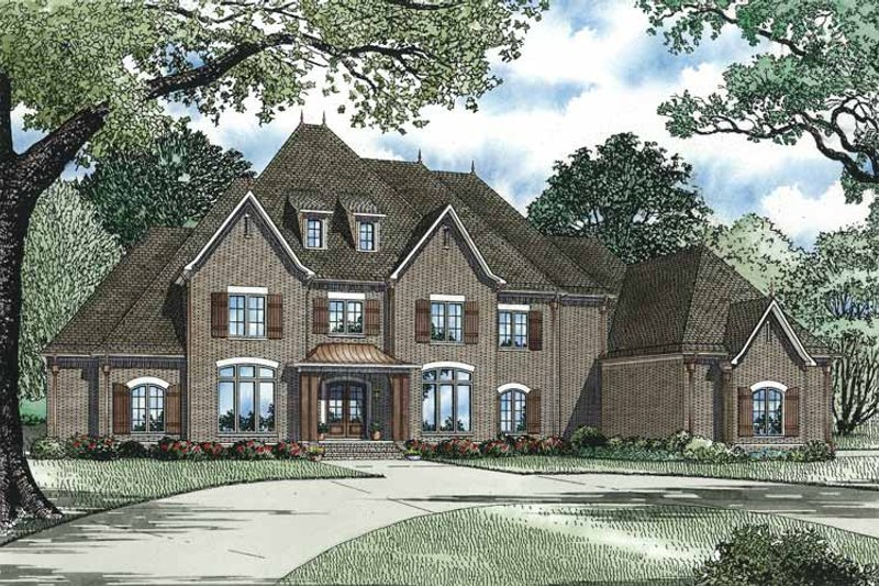 European Exterior - Front Elevation Plan #17-3329